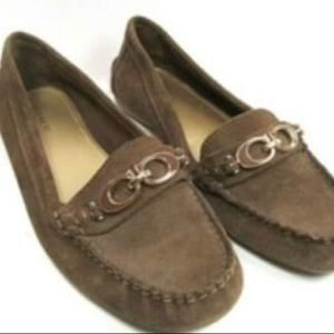 Coach A4481 Brown Suede Loafers